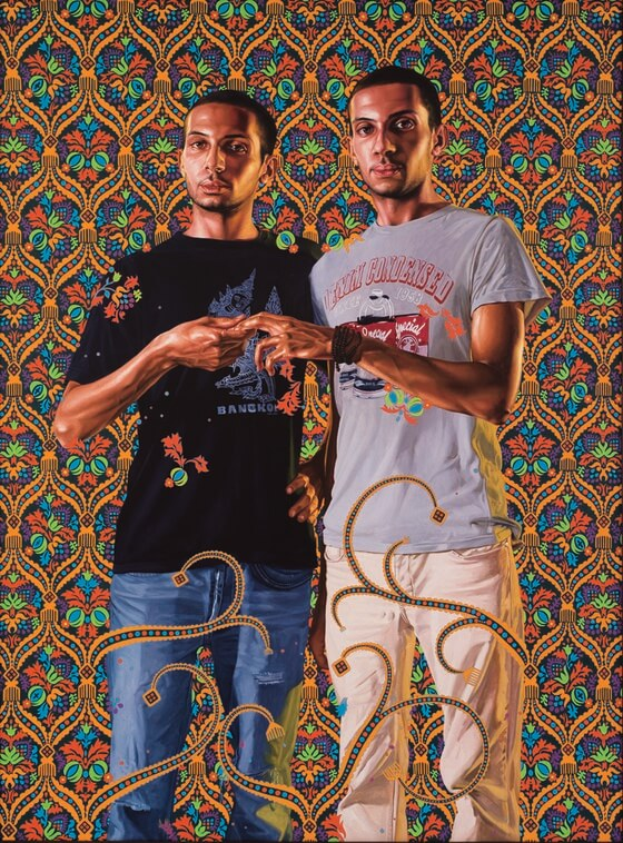 Kehinde Wiley art portrait