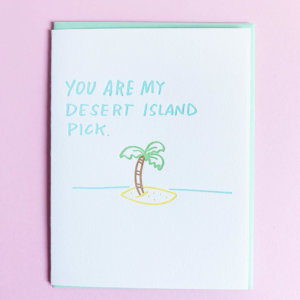 Desert Island Iron Curtain Press letterpress greeting card