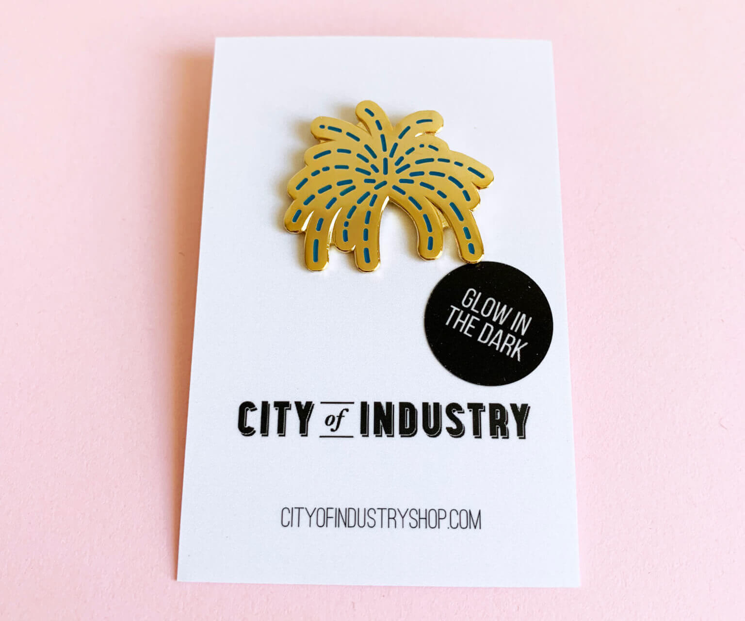 firework enamel pin badge
